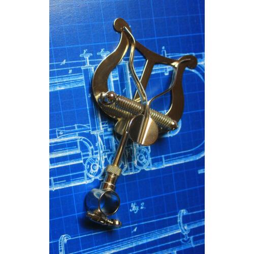 Amati Trombita, kornett, szárnykürt menetkottataró - gyűrűs, nikkelezett